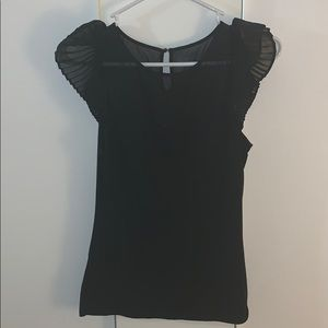 Express black sheer top